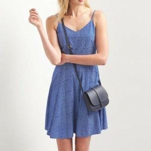 NWT GAP Blue White Spaghetti Strap Dress M $49